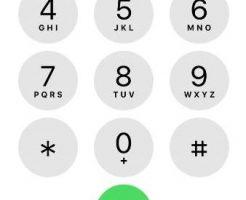 スマホの電話番号を打つ画面